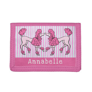 Pink Poodle Doodle Trifold Wallet