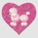 Pink Poodle Heart Sticker