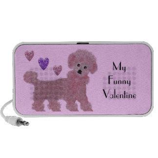 Pink Poodle Hearts Speaker