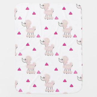 Pink Poodle Poop baby blanket