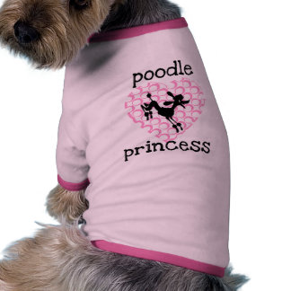 Pink Poodle Princess T-shirts