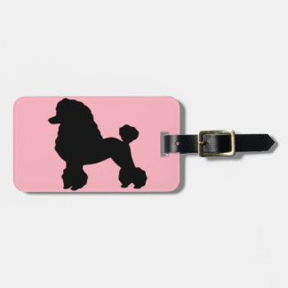 Pink Poodle Skirt Luggage Tag