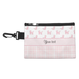 Pink Poodles & Pink Checks Accessory Bag