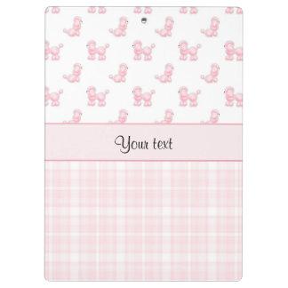 Pink Poodles & Pink Checks Clipboard