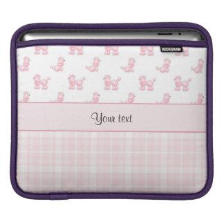 Pink Poodles & Pink Checks iPad Sleeve