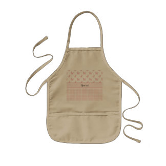 Pink Poodles & Pink Checks Kids Apron