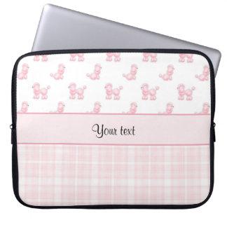 Pink Poodles & Pink Checks Laptop Sleeve