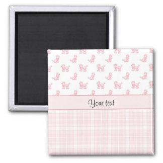 Pink Poodles & Pink Checks Magnet
