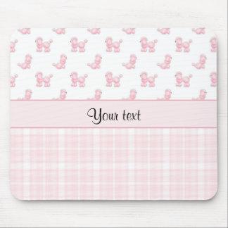 Pink Poodles & Pink Checks Mouse Pad