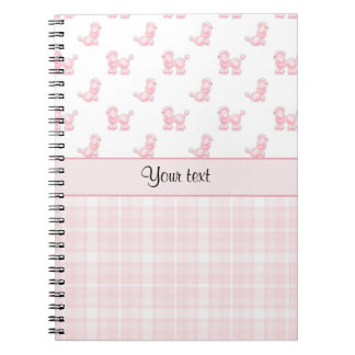 Pink Poodles & Pink Checks Notebook