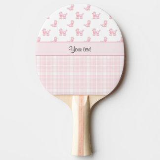 Pink Poodles & Pink Checks Ping Pong Paddle