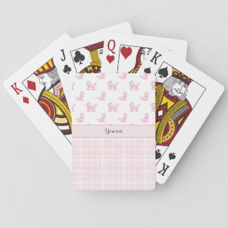 Pink Poodles & Pink Checks Playing Cards