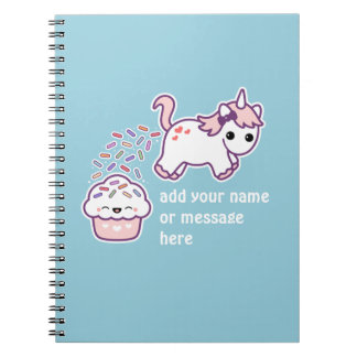 Pink Pooping Unicorn Note Book