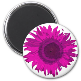 Pink Pop Art Sunflower Magnet