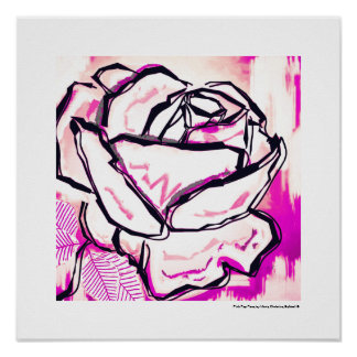 Pink Pop Rose - Pop Rose Art Print Valentine's Day