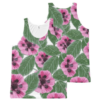 Pink Poppies All-Over Print Singlet