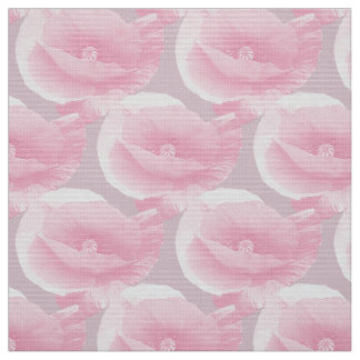 pink poppies. fabric