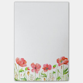 Pink Poppies Post-it Notes