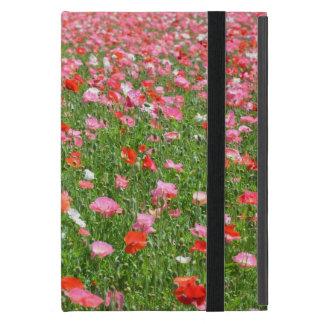 Pink poppy field print ipad mini case