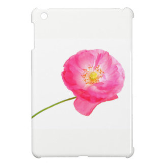 pink poppy with stem cover for the iPad mini