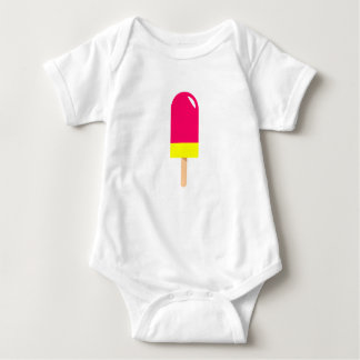 Pink Popsicle Drawing Baby Bodysuit