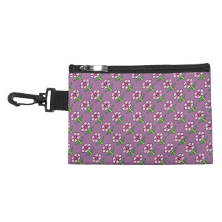 Pink Posey on Purple Accessory Bags