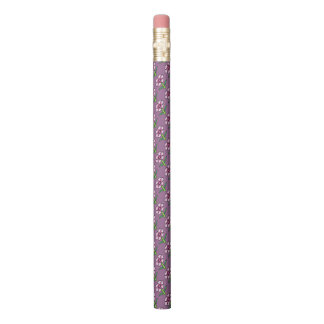 Pink Posey on Purple Pencil