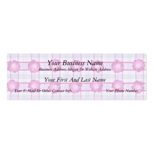 Pink Posies and Plaid Business Cards