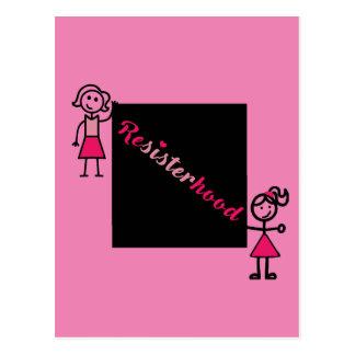Pink Postcard Political Resisterhood