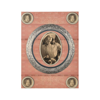 pink poster victorian wood poster