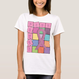 Pink Power Breast Cancer Awareness Ribbon Shirt