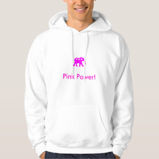 Pink Power Hooded Sweatshirt