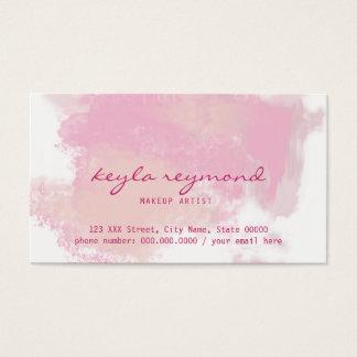 pink presentation / make-up makeup pinkish business card