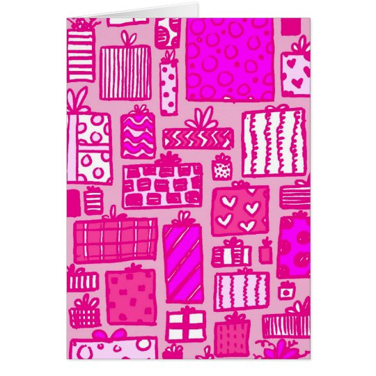 Pink Presents Card
