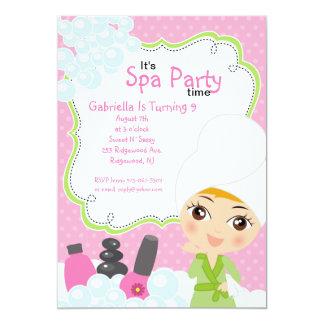 Pink Pretty Girl Spa Birthday Party Card