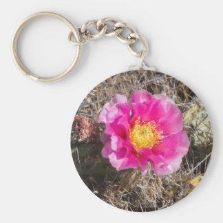 Pink Prickly Pear Key Ring Basic Round Button Key Ring