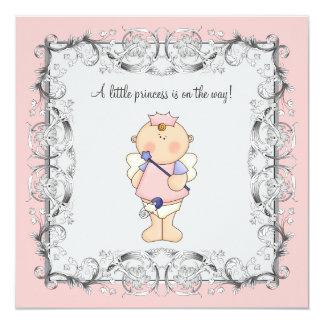 Pink Princess Baby Girl Shower Card