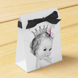 Pink Princess Baby Shower Favor Boxes