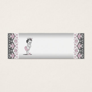 Pink Princess Baby Shower Favor Tags Mini Business Card