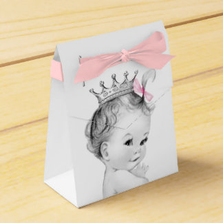 Pink Princess Baby Shower Favour Box