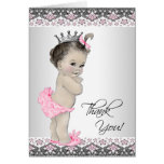 Pink Princess Baby Shower Thank You Cards Note Card