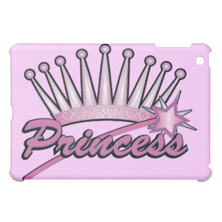 Pink Princess Crown iPad Mini Case