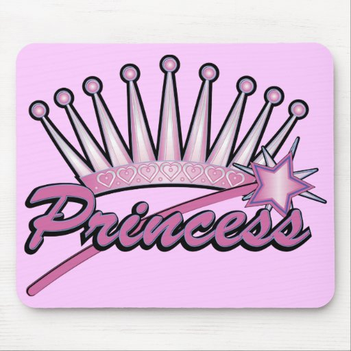Pink Princess Crown Mouse Mat
