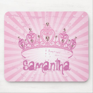 Pink Princess Crown Tiara Personalized Mousepad