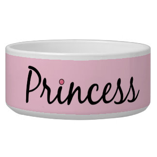 Pink Princess Dog Bowl