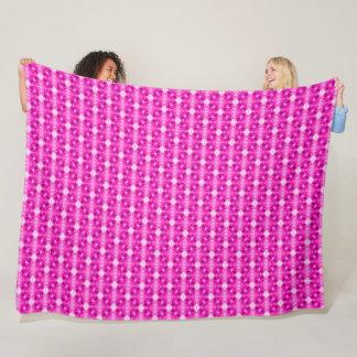Pink Princess Flowers Fleece Blanket