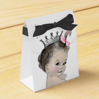 Pink Princess Girl Baby Shower Favour Box