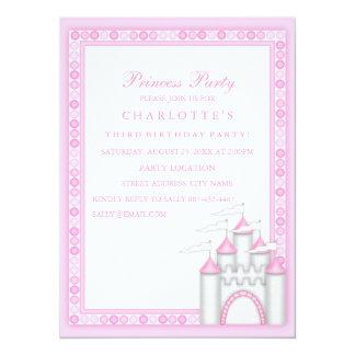 Pink Princess Party Birthday Invitation