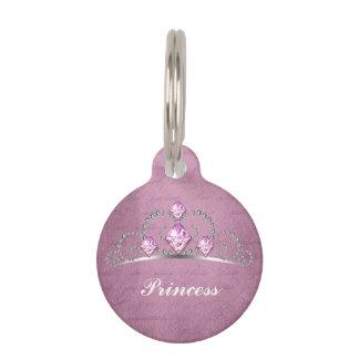 Pink Princess Pet Name Tag