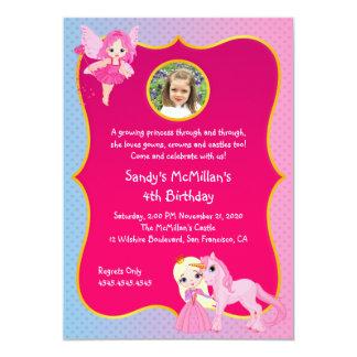 Pink Princess Pony Birthday Card